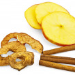 Stock Photo: Apple with chips and cinnamon