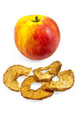 Apple with chips — Stock Photo