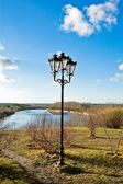 Decorative lanterns on the river — Stock Photo