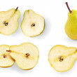 Stock Photo: Pear halves