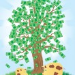 Royalty-Free Stock Vector Image: Money tree that grows gold coins