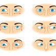 Stock Vector: Exercises for eyes