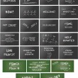 Huge collection of keynote presentation graphics — Stock Vector