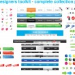 Web designers toolkit - complete collection part 8 — Imagens vectoriais em stock