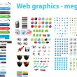Royalty-Free Stock Immagine Vettoriale: Web designers toolkit - mega pack
