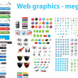 Vector de stock : Web designers toolkit - megpack