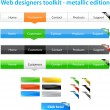Web designers toolkit - metallic edition — Stock Vector