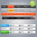 Step panels & navigation menus — Stock Vector