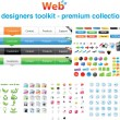 Royalty-Free Stock Immagine Vettoriale: Web designers toolkit - Premium collection 6