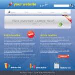 Web 2.0 şablonu — Stok Vektör