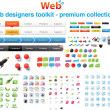 Stok Vektör: Web designers toolkit - Premium collection 7