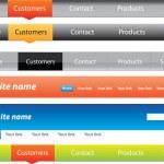 Web designers toolkit - Navigation menus — Stock Vector