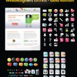 Web designers toolkit - Gold edition — Vector de stock #4062996