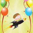 Celebration card — Vector de stock #4063012
