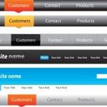 Web designers toolkit - Navigation menus pack — Stock Vector