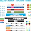 Stock Vector: Web designers toolkit - complete collection 9