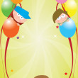 Celebration card — Vector de stock #4063058