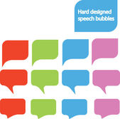 Diseñado burbujas de discurso — Vector de stock