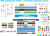 Web designers toolkit - complete collection part 8 — Vettoriale Stock