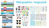 Web デザイナー ・ ツールキット - メガパック — ストックベクタ
