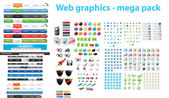 Web designers toolkit - mega pack — Cтоковый вектор