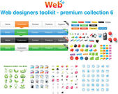 Web designers toolkit - Premium collection 6 — ストックベクタ