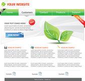Web 2.0 template — Stock Vector