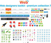 Web designers toolkit - Premium collection 7 — Vector de stock
