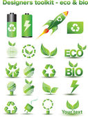 дизайнеры инструментарий - эко & био — Cтоковый вектор