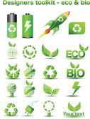 Designers toolkit - eco & bio — Stockvektor