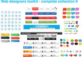 Web designers toolkit - complete collection 9 — Vettoriale Stock