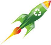 Recycle rocket — Stock Vector