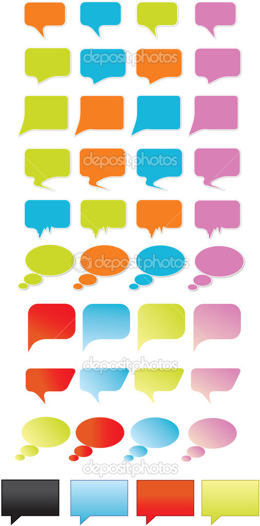 Designed speech bubbles — Stock Vector #4062914