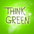 Think green — Stock fotografie