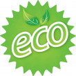 Eco logo - Stock vektor