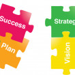 Vision-Strategy-plan-Success — Stock Vector