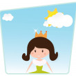 Little princess — Stock Vector