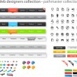 Stock Vector: Web designers toolkit - pathmaster collection
