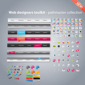 Web designer toolkit - collezione pathmaster — Vettoriale Stock