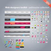 Web designers toolkit - pathmaster samling — Stockvektor