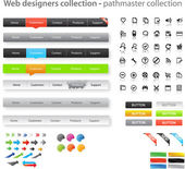 Web designers toolkit - pathmaster collection — Stock Vector