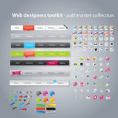 Web designers toolkit - collection pathmaster — Vecteur