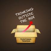 Pensando fuera de la caja — Foto de Stock