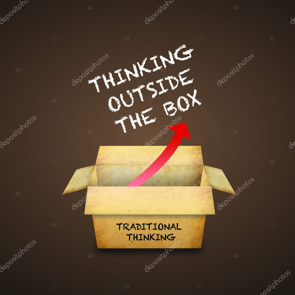 Thinking outside the box — Stock Photo #4966922