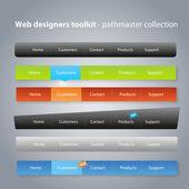 Toolkit van de ontwerpers van het web - de pathmaster collectie — Stockvector