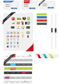 Web designers toolkit - web graphic collection — Stock Vector