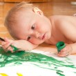 Stockfoto: Little girl looking for a drawing concept