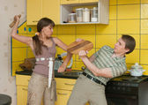 Violence in a family — Stock Photo