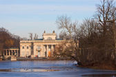 Palace on the Water during winter — Stock Photo