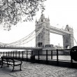 Tower Bridge in London - Stock Photo